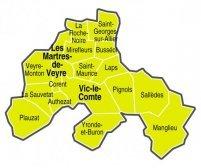 Carte Paroisse Saint Romain du Val d'Allier