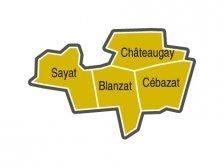Carte Paroisse Saint Vincent des Coteaux du Bedat