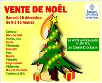 Vente de Noël du Secours catholique