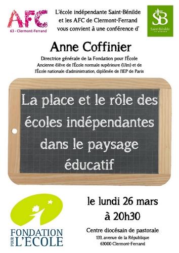 Conférence d'Anne Coffinier-AFC